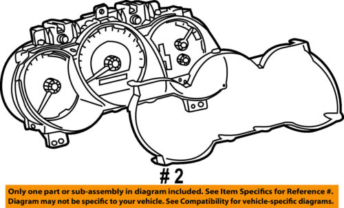 TOYOTA OEM 03-04 4Runner Dash Gauge Speedometer-Cluster Lens 838523G390