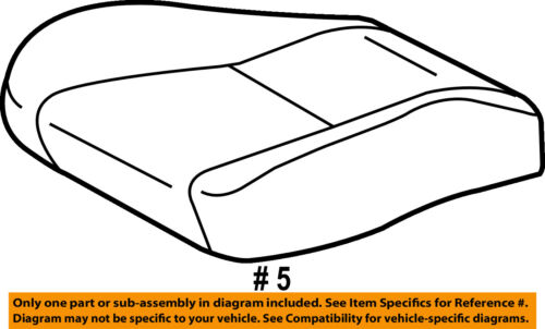 TOYOTA Genuine 71071-02D40-B0 Seat Cushion Cover
