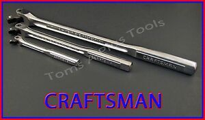 CRAFTSMAN TOOLS 3pc Flex T-Handle Breaker Bar Ratchet Socket Wrench set !!