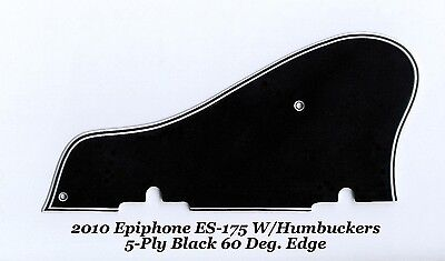 ES-175 2010 5-Ply Black Pickguard & Bracket W/60 bevel for Epiphone Project NEW for sale  Shipping to Canada