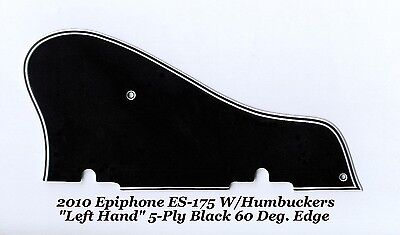 Used, 2010 Epiphone LEFT HAND ES-175 5Ply Black Pickguard 60 Deg Guitar Project NEW for sale  Shipping to Canada