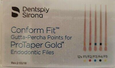 Protaper Gold Universal F1-f5 Assorted Gutta Percha Dentsply Tulsa Box Of 60