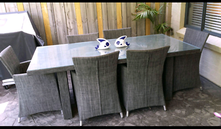 Harvey Norman Outdoor Furniture. 6 Seater Table V. Good Condition Part 98