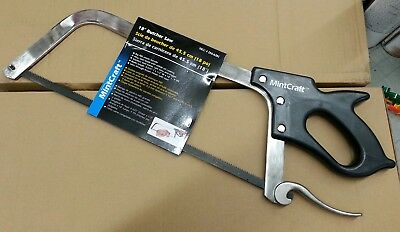 Orgill 18 Inch Heavy Duty Butcher Saw Cuts Through Frozen Meat With Ease
