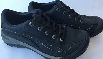 - Keen Toyah Black Nubuck Leather Lace-Up Trail Walking Oxford Womens US Size 7.5