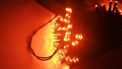 Halloween String Lights 40Ft 100 LED ORANGE 8Modes Solar Fairy Christmas Ambianc - Halloween Solar Lights