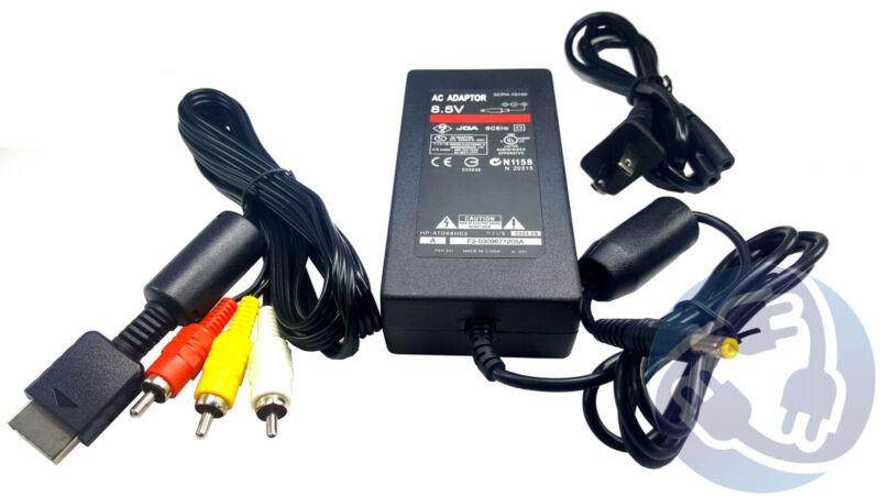 PlayStation 2 Slim Complete Hookup Kit Bundle A/V AV Cable AC Power Supply PS2