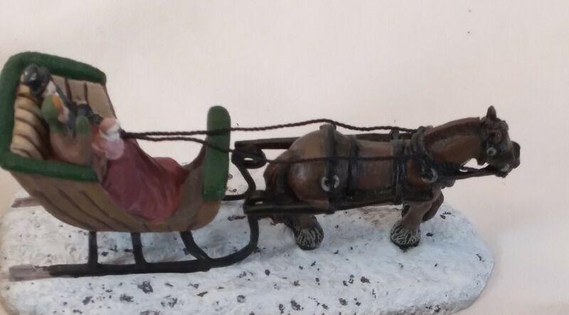 Hawthorne Village Kinkade Collection Horse & Sleigh 79973-A 2000 & Street Lights