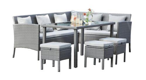Argos Home Richmond 6 Seater Wooden Patio Set Grey Ebay