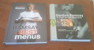 x2 Gordon Ramsay Ramsay's Best Menus and A Chef for All Seasons Hardcover Set (Gordon Ramsay Best Chef)