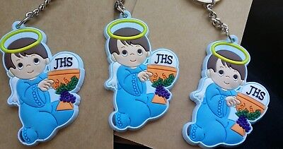 First Communion Gift (12First Communion Favors Boys Keychains,Primera Comunion)