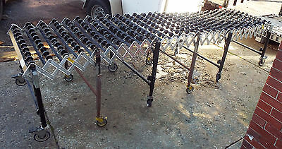 1 Used 13d474 Portable Skate-wheel Conveyor 12x30 Cap 200 Lbs Make Offer