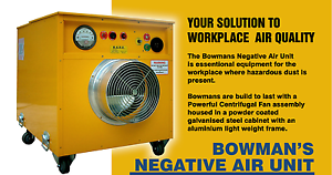 Extraction Fan, Attguard Bowman Negative Air Unit Ballina Ballina Area Preview