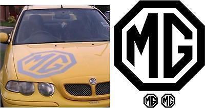 MG Bonnet Logo ZR ZS ZT TF MG3 MG6 Decal / Sticker / Large + 2x FREE SMALL SIZE