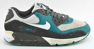 - MENS NIKE AIR MAX 90 RUNNING SHOES SIZE 8.5 HYPER VERDE GREEN GRAY 325018 059