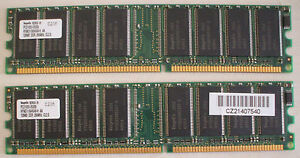 DDR-256MB-2x128-Hynix-HYMD116645A8-H-AA-128MB-PC2100-266MHz-CL2-5-184-Pin