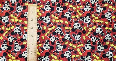 Custom 100% Cotton Woven Disney Mickey Mouse Zombie Halloween By the 1/4 Yard
