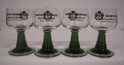 Wein Hammes Mehring/Mosel wine glasses set of 4.