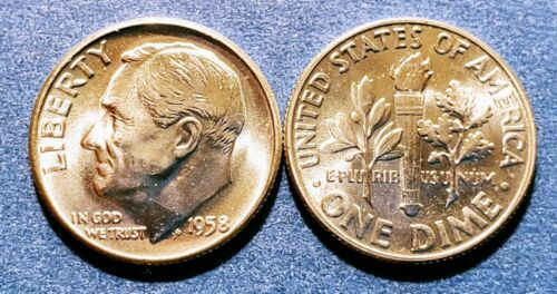 1958 BU Roosevelt Dime from an original roll - Quantity discounts