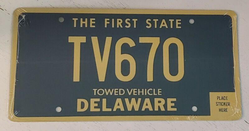 Delaware Towed Vehicle License Plate