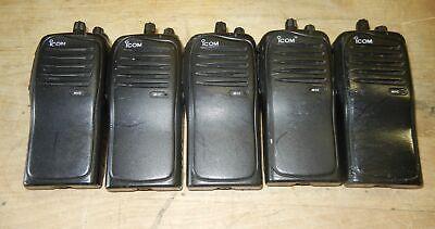 Icom Ic-f4011 Uhf 400-470 Mhz 4 Watt 16 Channel Two Way Radio Lot Of 5