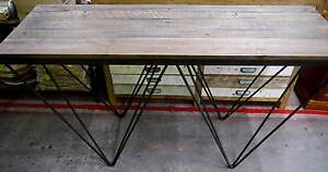 New Rustic Industrial Recycled Timber Vintage Hairpin Hall Tables Melbourne CBD Melbourne City Preview