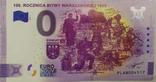 0 euro Battle of Warsaw 1920 POLAND