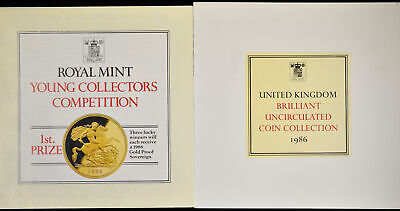Great Britain 1986 KM#MS107 8 Coin Mint Set Original Case COA As Issued