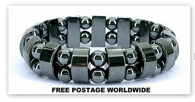 Hematite Magnetic Bracelet FOR CONTROL HIGH/LOW Blood Pressure/ Acupressure