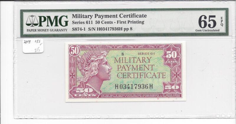 MPC Series 611  50 Cents  PMG 65EPQ  GEM UNC