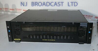 Evertz Xx 7800fr Frame With 2xpsu With 4x 2x2 Hd Switches And 10x Hdfibe To B