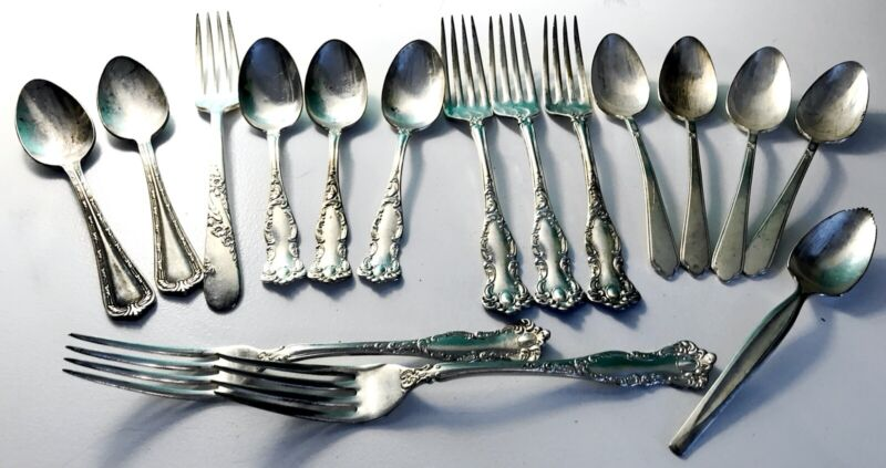 Mixed Lot of Vintage Silver Plated Flatware - Various Patterns