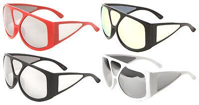 OVERSIZED FLAT TOP BUG EYE GOGGLES SUNGLASSES w/ SIDE SHIELD LENSES WRAP AROUND](Bug Eye Sunglasses)