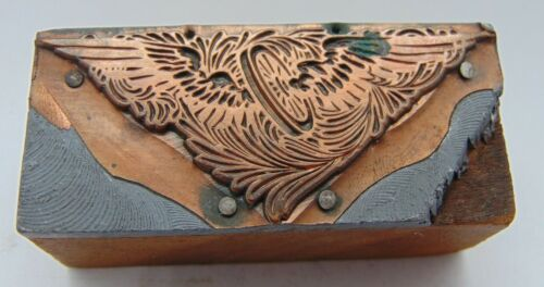 Printing Letterpress Printers Block Wheel With Wings Copper Face