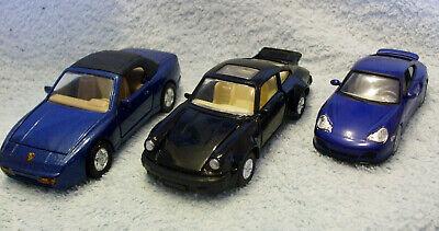 3  Diecast model Porsche Cars,  911, 911 Turbo , 944 Mint Unboxed  Free UK Post