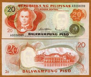 Philippines-20-Piso-ND-1970-P-150-First-Issue-UNC