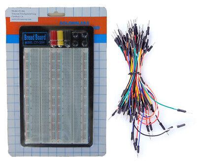 Tektrum Solderless 1660 Tie-points Experiment Plug-in Breadboard Kit With Wires