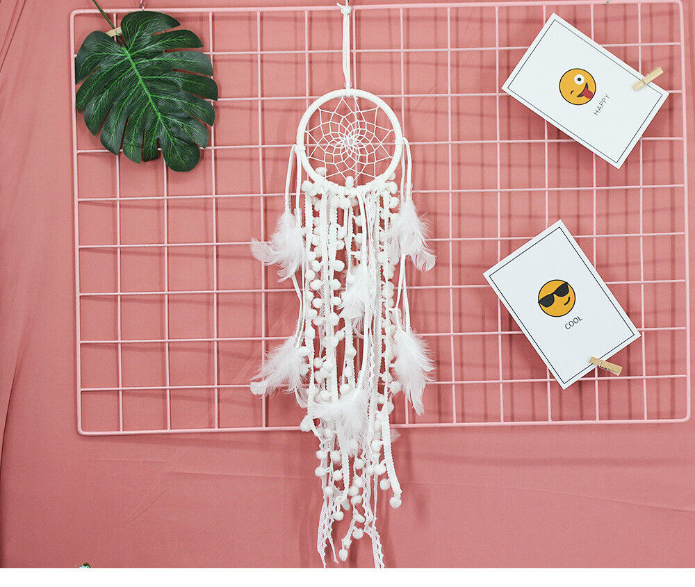 Small White dream catcher for car, kids bedroom decoration, nursery wall decor Collectibles