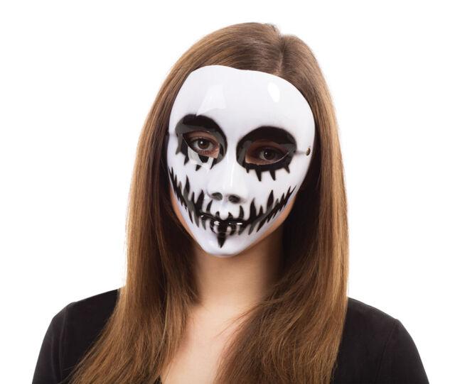 White Skeleton Mask Halloween Fancy Dress Costume Masquerade Ball Accessory New