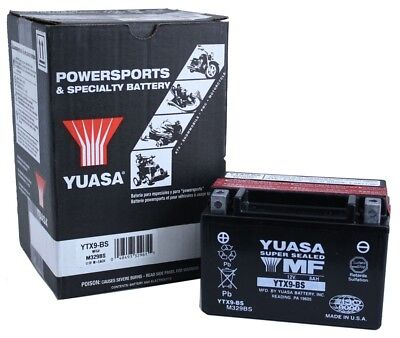 Yuasa YTX9-BS CCM All Electric Start Models 96-'01 AGM 12 Volt Battery