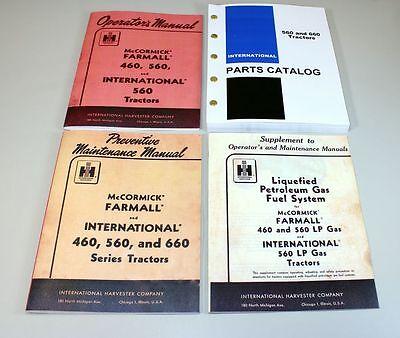 International Farmall 560 Lp Tractor Operator Parts Preventive Manual Catalog