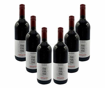 Tag für Tag Rotwein - 6er Set Spätburgunder Halbtrocken - 6x 1L (12,5% Vol) - P
