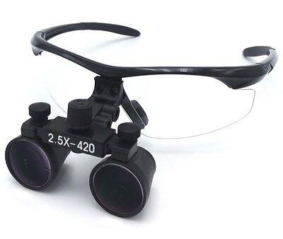 2.5x420mm Dental Medical Binocular Loupes Magnifier Black Dy-101 Us Stock