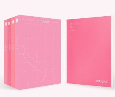 BTS MAP OF THE SOUL:PERSONA Album CD+Photobook+Mini Book+Photocard+Postcard+Film