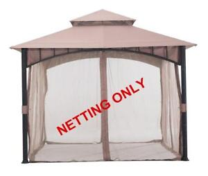 New  Sunjoy Mosquito Netting Accessory Replacement for Gazebo D-GZ136PST-N Condition: New