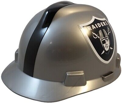 Oakland Raiders Msa Nfl Hard Hat With Fas Trac Suspension