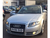 2006 AUDI A4 2.0 SPORT TDI 140 CABRIOLET MUST SEE FULL SERVICE HISTORY TOP SPEC