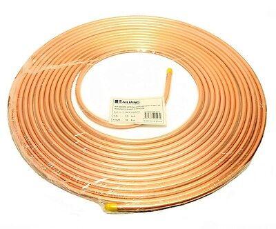 Copper Tubing 38 In. X 50 Ft. Refrigeration Hvac Tube Coil Ductless Mini Split