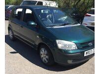 Green Hyundai Gezt 1.1 Petrol 2003 only £400