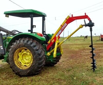 Soil Auger Earth Drill Hole Digger Drilling For Tractor Attachment Plans